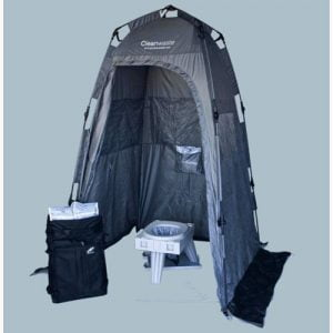 Cleanwaste Go Anywhere Complete Portable Toilet System with tent