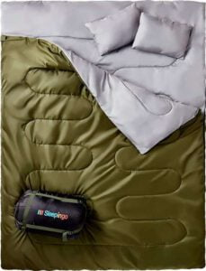 Sleepingo Double Sleeping Bag - best double sleeping bag for car camping
