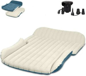 WEY&FLY SUV Air Mattress Thickened and Double-Sided Flocking Travel Mattress Camping - best sleeping mattress for car camping